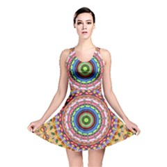 Peaceful Mandala Reversible Skater Dress