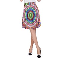 Peaceful Mandala A Line Skirt