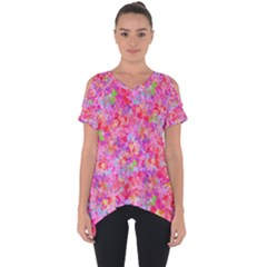 The Big Pink Party Cut Out Side Drop Tee