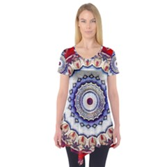 Romantic Dreams Mandala Short Sleeve Tunic