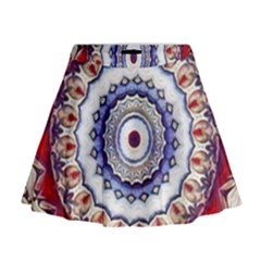 Romantic Dreams Mandala Mini Flare Skirt