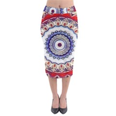Romantic Dreams Mandala Midi Pencil Skirt