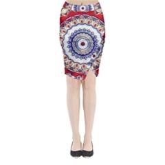 Romantic Dreams Mandala Midi Wrap Pencil Skirt