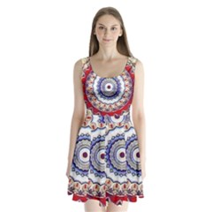 Romantic Dreams Mandala Split Back Mini Dress
