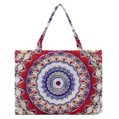 Romantic Dreams Mandala Zipper Medium Tote Bag