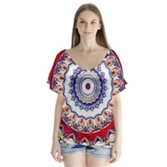 Romantic Dreams Mandala Flutter Sleeve Top