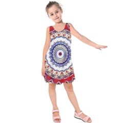 Romantic Dreams Mandala Kids  Sleeveless Dress