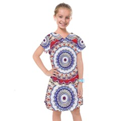 Romantic Dreams Mandala Kids  Drop Waist Dress
