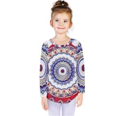 Romantic Dreams Mandala Kids  Long Sleeve Tee