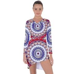 Romantic Dreams Mandala Asymmetric Cut Out Shift Dress