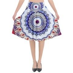 Romantic Dreams Mandala Flared Midi Skirt