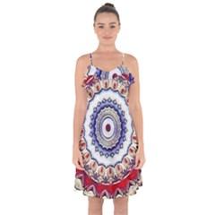 Romantic Dreams Mandala Ruffle Detail Chiffon Dress
