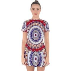 Romantic Dreams Mandala Drop Hem Mini Chiffon Dress