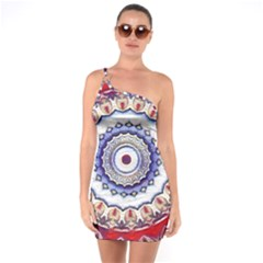 Romantic Dreams Mandala One Soulder Bodycon Dress