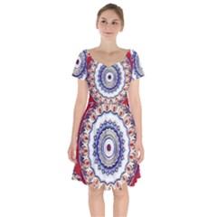 Romantic Dreams Mandala Short Sleeve Bardot Dress