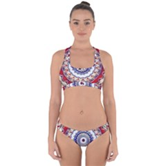 Romantic Dreams Mandala Cross Back Hipster Bikini Set