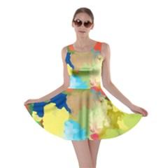 Summer Feeling Splash Skater Dress