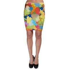 Summer Feeling Splash Bodycon Skirt