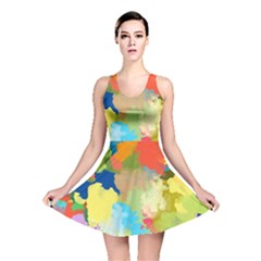 Summer Feeling Splash Reversible Skater Dress