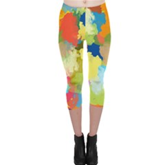 Summer Feeling Splash Capri Leggings