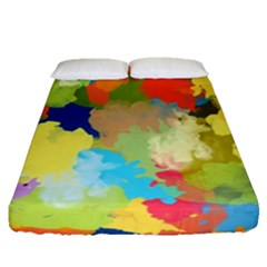 Summer Feeling Splash Fitted Sheet (queen Size)