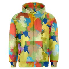 Summer Feeling Splash Men s Zipper Hoodie