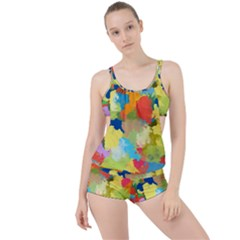 Summer Feeling Splash Boyleg Tankini Set