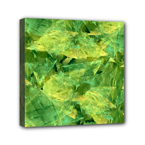 Green Springtime Leafs Mini Canvas 6  X 6