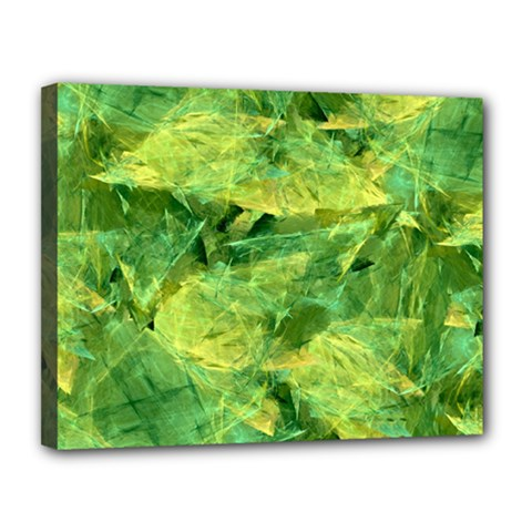 Green Springtime Leafs Canvas 14  X 11