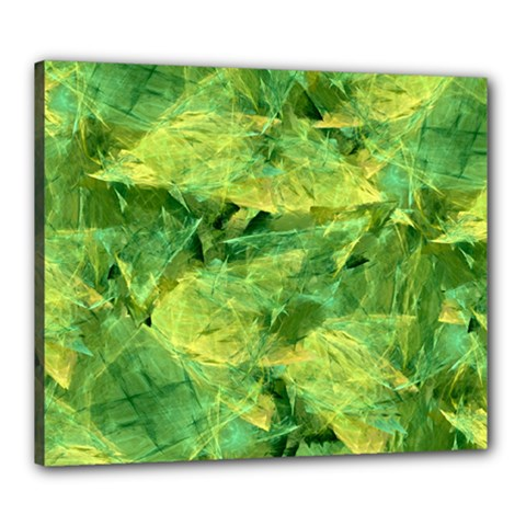 Green Springtime Leafs Canvas 24  X 20