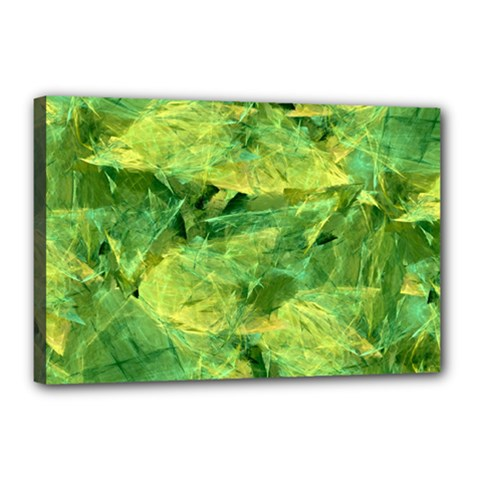 Green Springtime Leafs Canvas 18  X 12