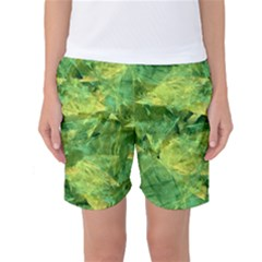 Green Springtime Leafs Women s Basketball Shorts