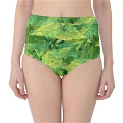 Green Springtime Leafs High Waist Bikini Bottoms