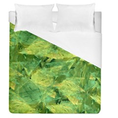 Green Springtime Leafs Duvet Cover (queen Size)