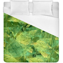 Green Springtime Leafs Duvet Cover (king Size)