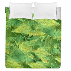 Green Springtime Leafs Duvet Cover Double Side (queen Size)