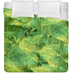 Green Springtime Leafs Duvet Cover Double Side (king Size)