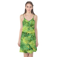 Green Springtime Leafs Camis Nightgown