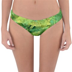 Green Springtime Leafs Reversible Hipster Bikini Bottoms
