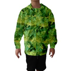 Green Springtime Leafs Hooded Wind Breaker (kids)