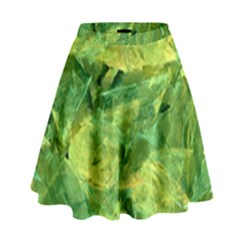 Green Springtime Leafs High Waist Skirt
