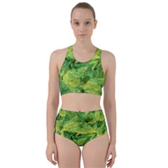 Green Springtime Leafs Bikini Swimsuit Spa Swimsuit