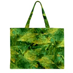 Green Springtime Leafs Medium Tote Bag