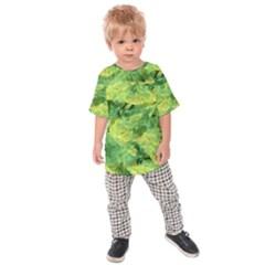 Green Springtime Leafs Kids Raglan Tee