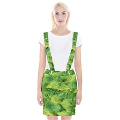 Green Springtime Leafs Braces Suspender Skirt
