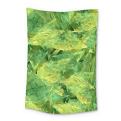 Green Springtime Leafs Small Tapestry
