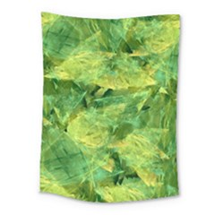 Green Springtime Leafs Medium Tapestry