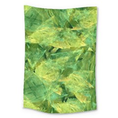 Green Springtime Leafs Large Tapestry