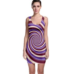 Woven Spiral Bodycon Dress