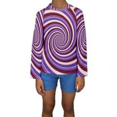 Woven Spiral Kids  Long Sleeve Swimwear